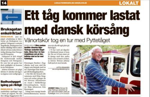 Fra Lokaltidningen Angelholm Sverige